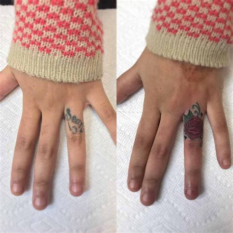 finger tattoo cover ups finger cover up best ideas gallery