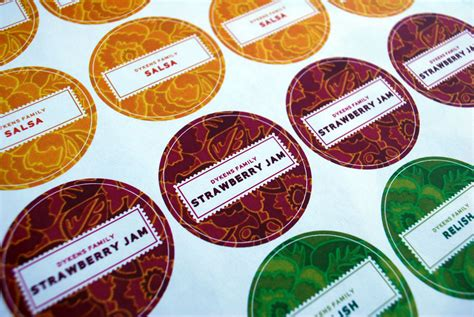 jam jar label template merrimentdesign canning labels your own customized