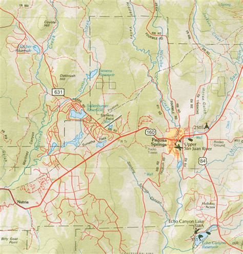 southwest colorado fly fishing map maps of pagosa springs southwest colorado four corners