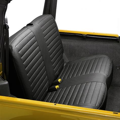 jeep bench seat bestop black denim rear bench seat covers for 1997 2002