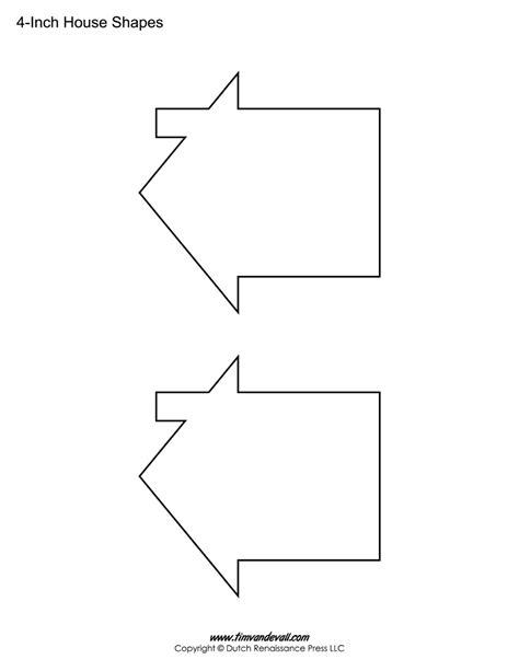 free printable house template house templates free blank house shape pdfs