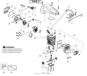 poulan pp4218av gas saw type 2 parts diagram for engine type 2