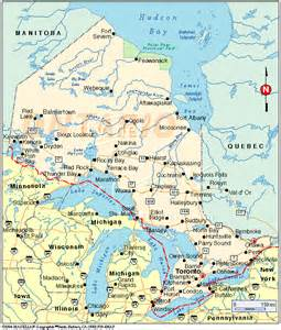 canada map ontario cities ontario map
