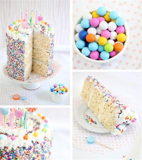 Rice Krispie Treat Sprinkle Cake   Sprinkle Bakes is Four!   Sprinkle Bakes