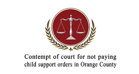 contempt of court contempt of court not bench contempt of court for not paying child support orders in