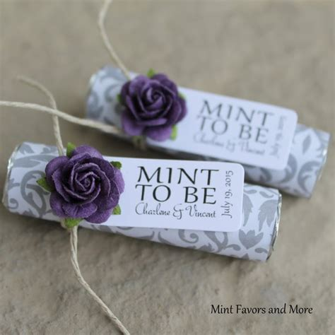 Wedding Mints by Unique Wedding Favors Purple Wedding Favors Mint To Be