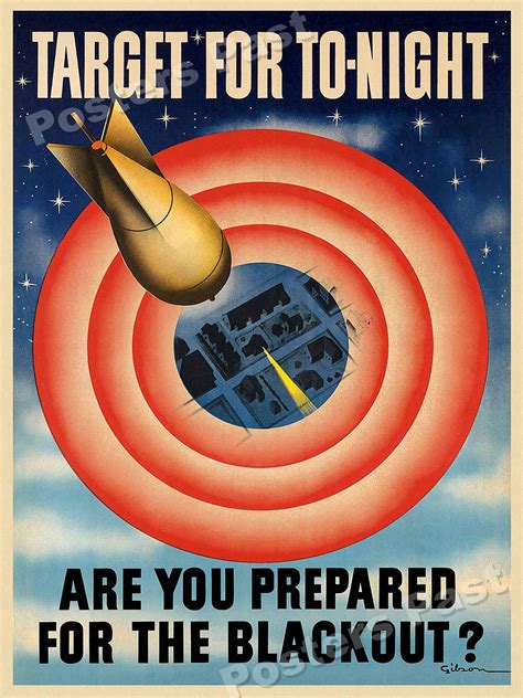 world war 2 posters blackout are you prepared for the blackout 1941 vintage style