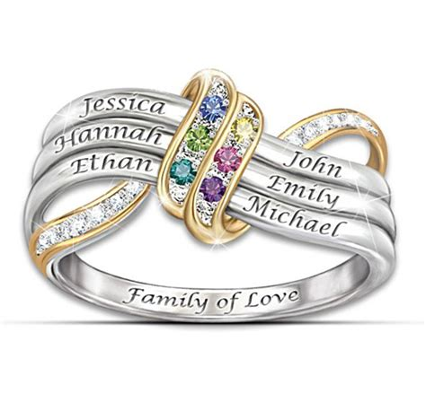 sterling silver mothers rings 15 personalized rings