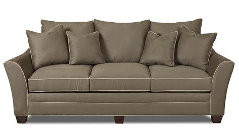 sofa blocks contemporary sofa with block feet by klaussner wolf and