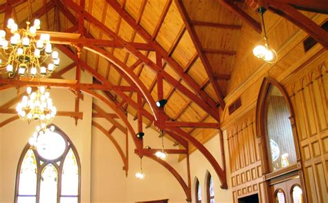 cathedral ceiling trusses modified hammer beam trusses arched webs and braces