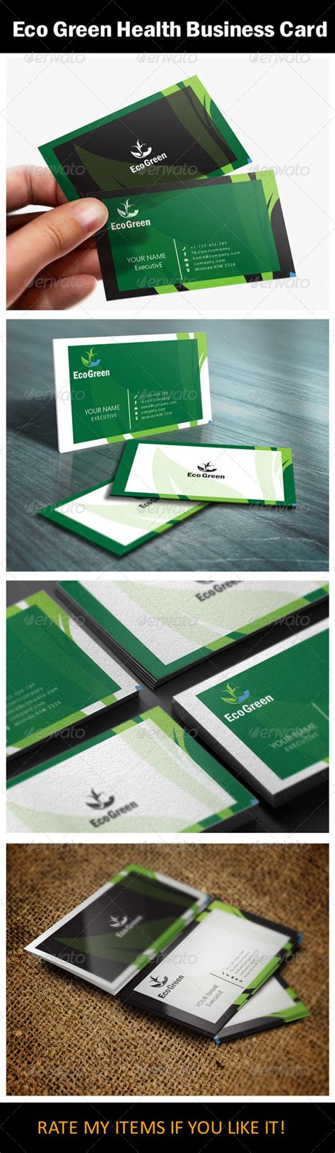 eco business card templates eco green health business card logoby us