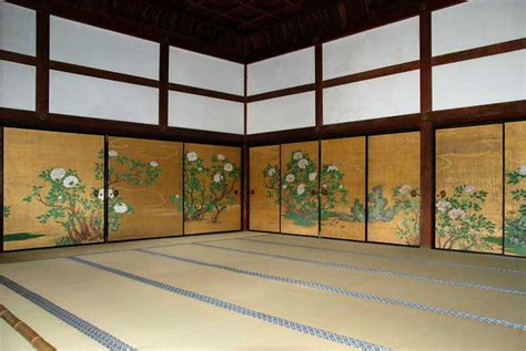 Interior Room quot botan no ma quot or quot peony room quot in the shinden building of