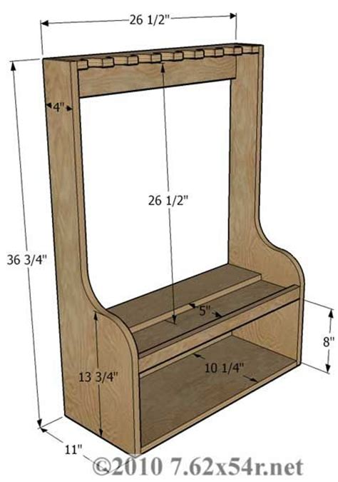Gun Rack Designs by Vertical Gun Rack Plans Free Woodworking Projects Plans