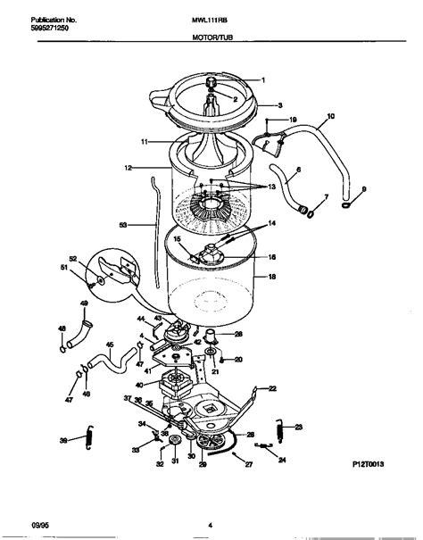 frigidaire washer parts diagram frigidaire parts diagrams frigidaire free engine image