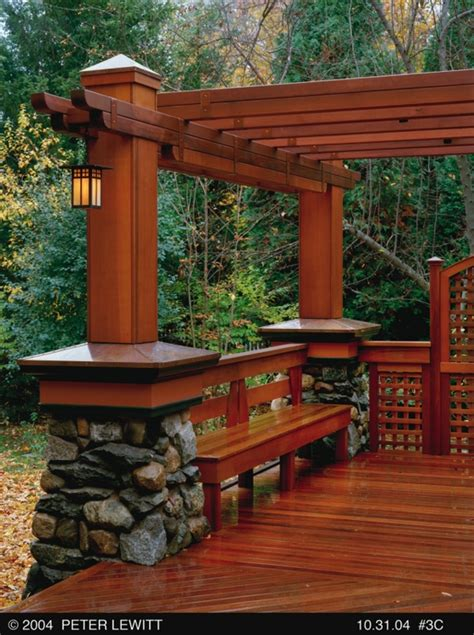 pergola bench 21 inspiring diy deck design ideas