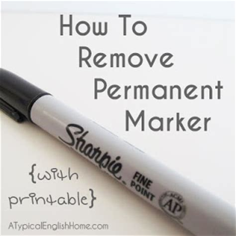 a typical home how to remove permanent marker
