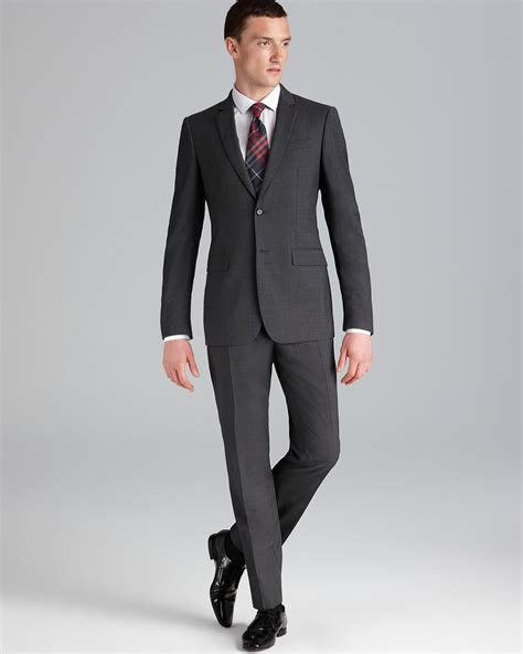 contemporary suits lyst burberry milbury suit contemporary fit in