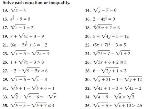 Radical Equations Worksheet by Radical Equations Worksheet Lesupercoin Printables Worksheets
