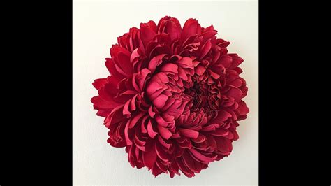 big paper flower making tutorial how to make big tissue paper flowers rose tutorial