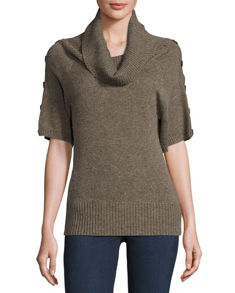 Sweater Celsius Zero Degrees Celsius Cowl Neck Half Sleeve Sweater In Gray