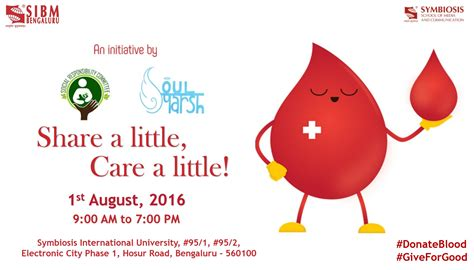 Donation In Symbiosis Mba by Symbiosis Blood Donation Drive 2016 Ideasmakemarket