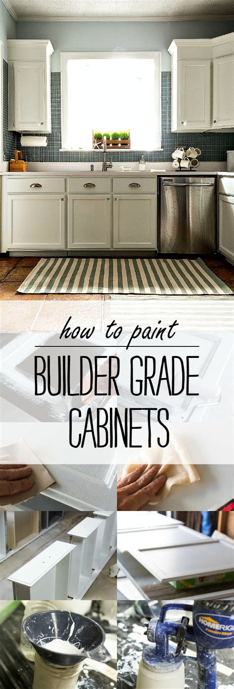 paint grade kitchen cabinets how to paint builder grade cabinets