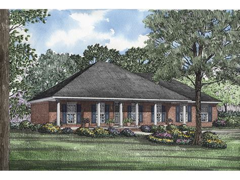 hip roof ranch house plans morisa lowcountry home plan 055d 0195 house plans and more
