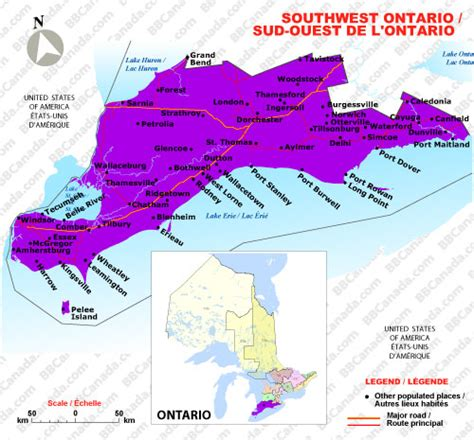 south west canada map southwest ontario ontario bed and breakfasts b bs canada