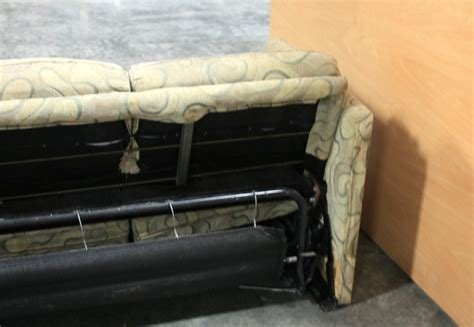 used rv sleeper sofa rv furniture used rv swirl pattern cloth pull out sleeper