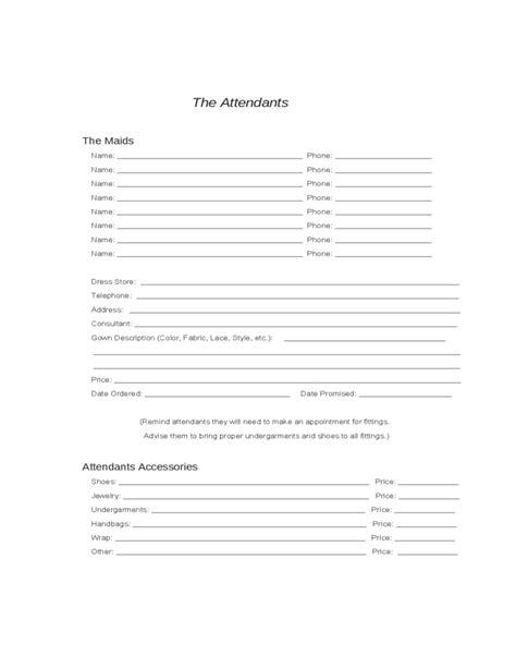 wedding planning worksheets sample free download