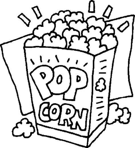 popcorn coloring pages preschool popcorn coloring sheet coloring home