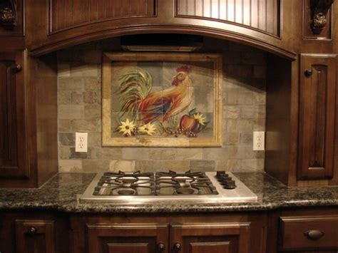 rooster backsplash tuscan rooster tile mural on tumbled marble