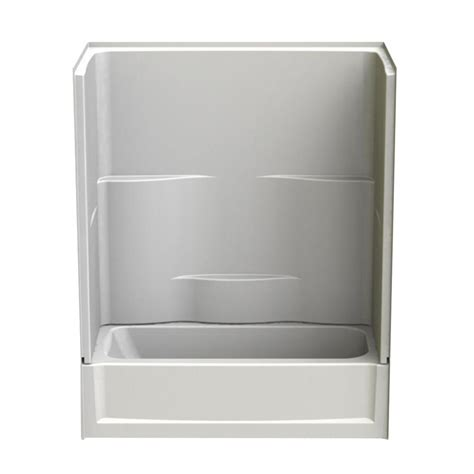aquatic bathtub aquatic 60 in x 30 in x 72 in 2 piece right hand drain