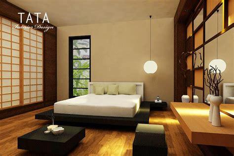 wallpaper dinding nuansa jepang tata interior desain desain interior kamar tidur minimalis