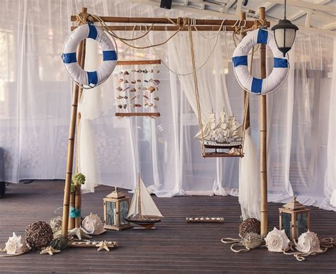 nautical decorating nautical decor for the wedding reception decorated arch