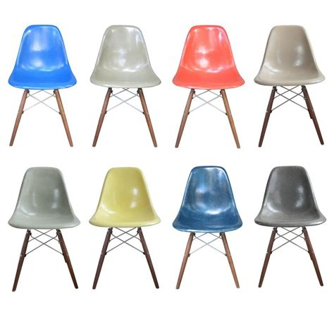 Eames Dining Chairs For Sale Eight Multicolored Herman Miller Eames Dining Chairs For Sale At 1stdibs