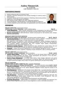 Resume Sles For Management Graduates Sports Managements Resume Sales Management Lewesmr