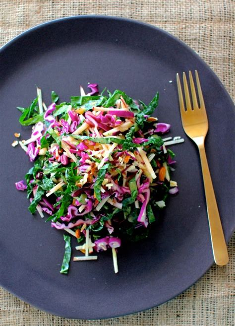 Apple Cabbage Detox Salad by Kale And Cabbage Salad With Apple And Chopped Nuts