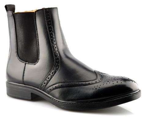 mens zip up chelsea boots mens new chelsea dealer biker style ankle zip up brogues