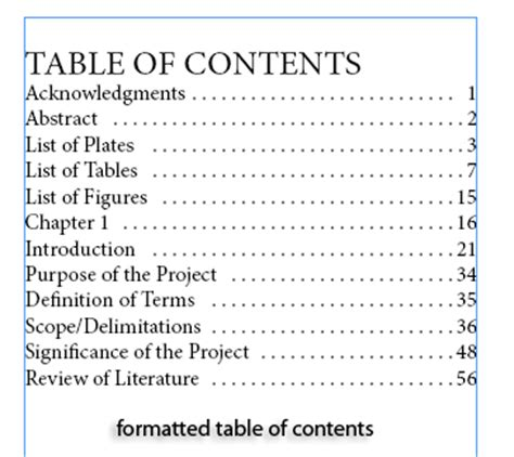 best table of contents template creating a simple table of contents in indesign cs5