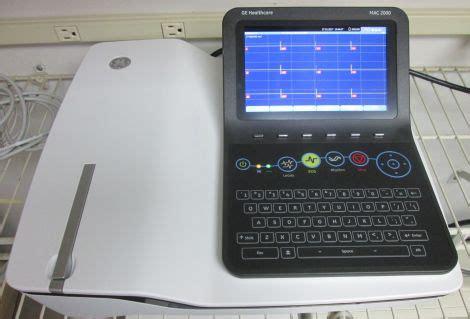 new ge mac 2000 ecg unit for sale dotmed listing #2329812: