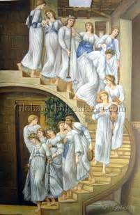 The Golden Stairs by Sir Edward Coley Burne Jones The Golden Stairs Oil
