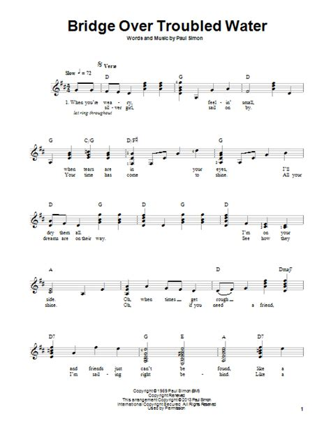water under the bridge by adele easy guitar tab guitar bridge over troubled water sheet music direct
