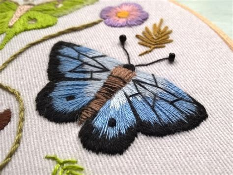 free butterfly hand embroidery meet self taught embroiderer angela snape from coverstory