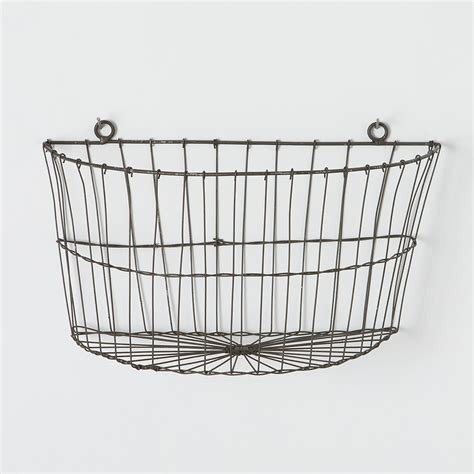 half moon wire wall basket outdoor gardens planters and