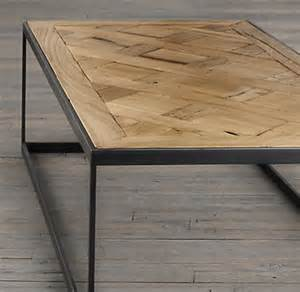 Parquet Coffee Table Reclaimed Russian Oak Parquet Coffee Table