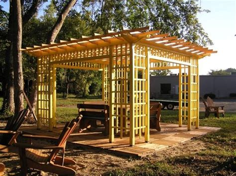 wood pergolas landscaping network