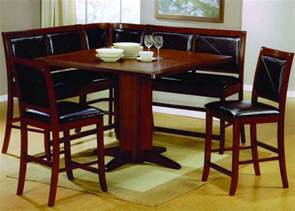corner dining room set dining room set counter height table corner seating new ebay
