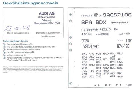 Audi A6 4f Ausstattungscodes by Joolo S Blog