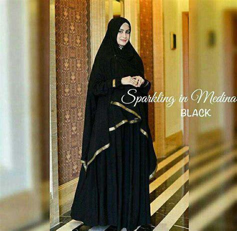 Madina Gamis Syar I baju gamis syari khimar panjang medina hitam baju gamis